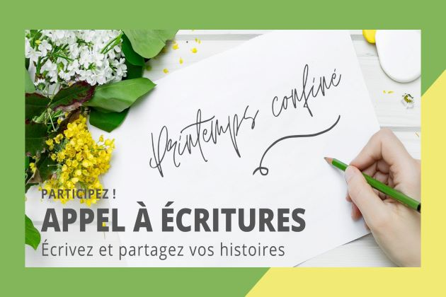 Appel à écriture Avril-Mai 2020