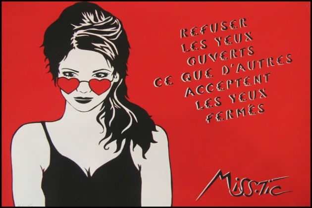 Miss Tic lithographie.